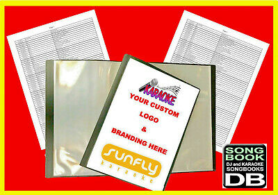 Karaoke Song 4 Book Package - CUSTOM COVER SHEET - Fully Printed - FREE DELIVERY