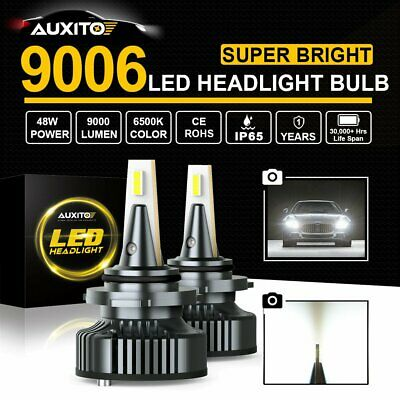 AUXITO 2x9006 HB4 9000LM 6500K LED Car Headlight Replace Bulb Lamp Globe Kit Y13