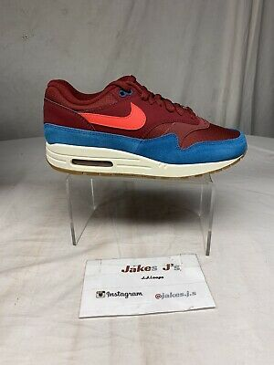 NIKE AIR MAX 1 Ah8145 601 Team Red (Maroon)Red OrbitGreen