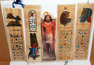 50 Papyrus Book Mark / Large / Hand Made in Egypt
