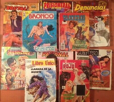Mexican Comic In Color, Lot Of 10
