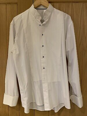 Gents Piscador White Marcella/waffle Winged Evening Dress Shirt Collar 17/44
