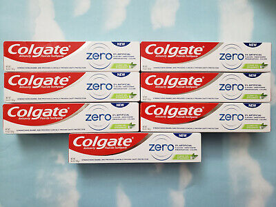 Lot(7) New Colgate Zero Toothpaste Clear Gel Spearmint  4.6Oz