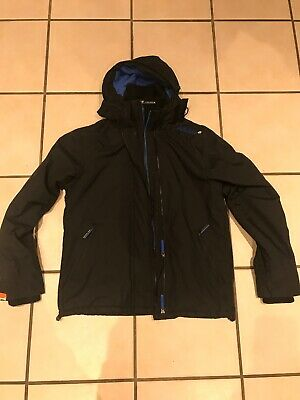 MEN'S SUPERDRY BLACK The Windcheater Hooded Jacket Size L