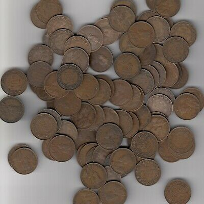 1911-20 Canada Large Cents Lot Of 100
