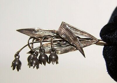 Broche Ancienne Brins Muguet Argent Sterling Silver Lily Of The Valley Brooch