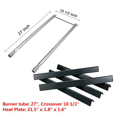 Replacement Burner Tube Heat Plate for Weber Spirit 500, Genesis Silver A Grills