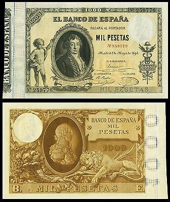 Facsimil Billete 1000 Pesetas de 1895 - Reproduction
