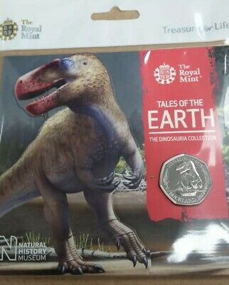 2020 Megalosaurus/ Dinosaur 50p Fifty Pence BU Coin  RM Sealed Pack In Stock