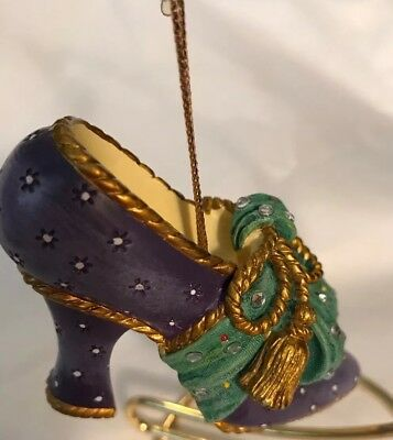 """Stepping in Time Heirloom Ornaments: """"Soirée"""" Shoe Christmas Ornament"""