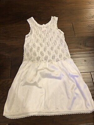 Little Girls Jcpenney Lace And Silk Slip 8