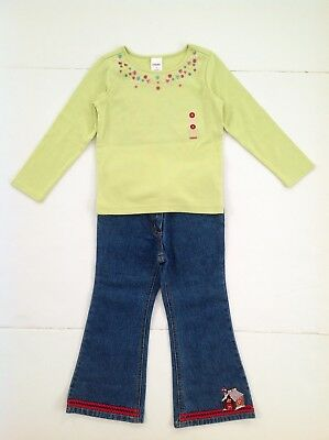 NWT Gymboree Girls Sugar and Spice Size 4 Set L/S Shirt+Jeans