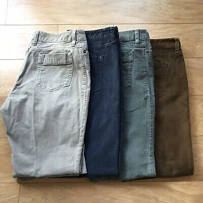Lot of 4 Pairs of Eddie Bauer Corduroy Jeans Women's Size 16 Multiple Colors