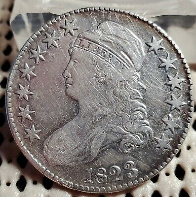 1823 Bust Half Dollar 50¢ Silver Coin Early US Type