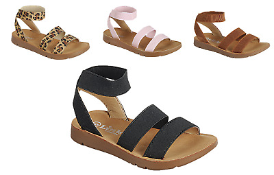 Sez08i Girl Strappy Sandals Sequins Toddler Dress Shoes Baby Sandals