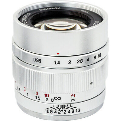 Mitakon Zhongyi Speedmaster 35mm f/0.95 Mark II Lens for Canon M (Silver)