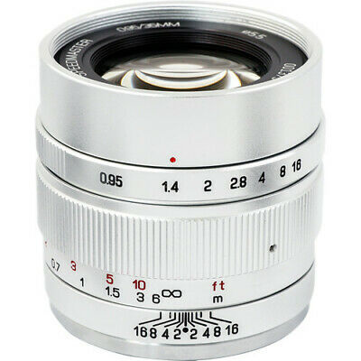 Mitakon Zhongyi Speedmaster 35mm f/0.95 Mark II Lens for Sony E (Silver)