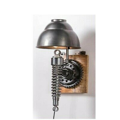 Vintage Industrial Metal Wall Lamp Up-Cycled Retro Unusual Steampunk Light