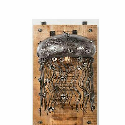 Vintage Industrial Jelly Fish Wall Lamp Up-Cycled Retro Unusual Steampunk Light