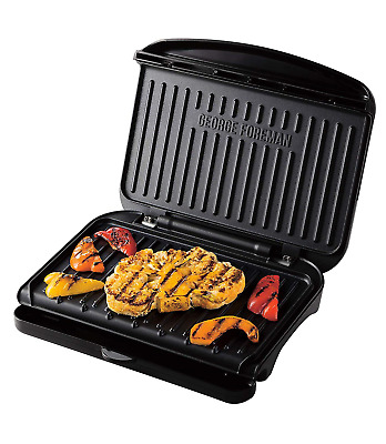 George Foreman 25810 Medium Fit Grill - Versatile Griddle, Hot Plate and Toastie