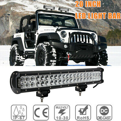 20inch CREE LED Light Bar Spot + Flood Driving Lamp For Offroad 4WD SUV Truck AU
