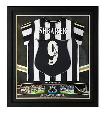 Alan Shearer Signed & Framed Shirt Newcastle United GENUINE SIGNATURE AFTAL COA