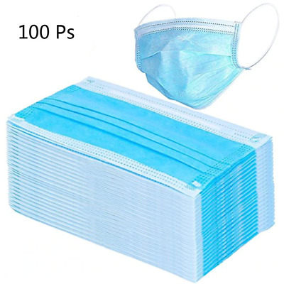 Face Mask Surgical 3 Ply Disposable Medical Pcs 100 Dental Dust Industrial Earlo