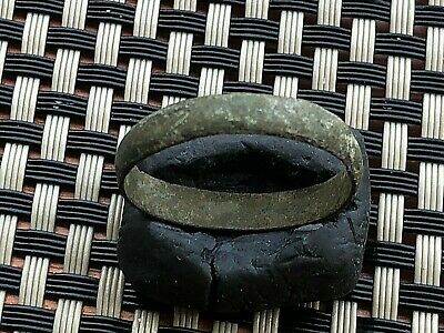 Ancient Celtic Bronze Wedding Ring Circa 200 Bc -100 Ad Scarce