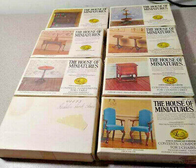 X-acto The Doll House of Miniatures /8 Box Lot #40002-38-40-47-71-73-74-81