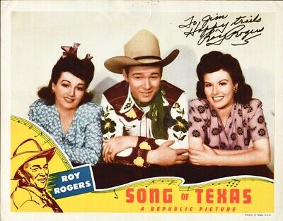 Roy Rogers - Inscribed Lobby Card Signed