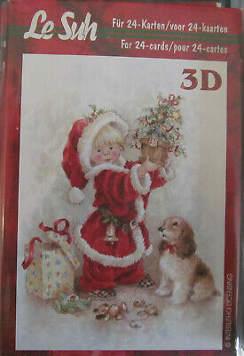 Father Christmas 1 Mini 3d Decoupage Book from Le Suh