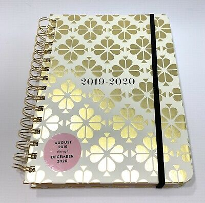 KATE SPADE Gold Spade Flower 17 Month Planner 2020 NEW