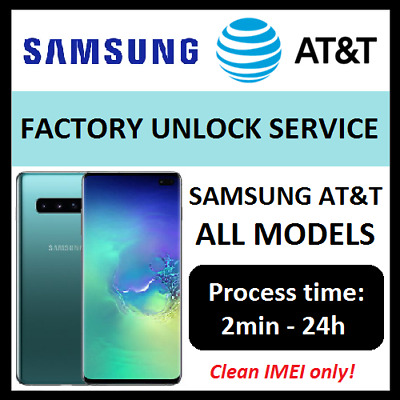 AT&T ATT Unlock code for Samsung GALAXY S9 S8 S7 S6 S5 S4 S3 NOTEs ACTIVE