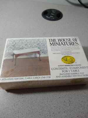X-acto The Doll House of Miniatures/Queen Anne Serving Table #40059 Vintage