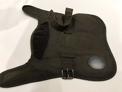 🐾 BARBOUR Olive Waxed Dog Coat Size XS /Toy Dog/Puppy- Immaculate Cond. 🐾