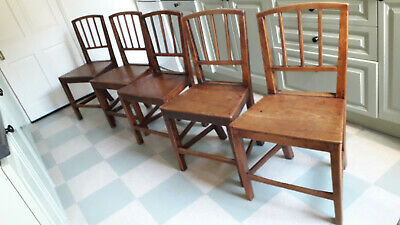 Set of 5 Vintage Arts & Crafts Dining Chairs - Used, please look at pictures