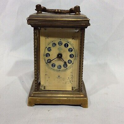 British United Co. Winding Brass Carriage Clock for spares or repairs