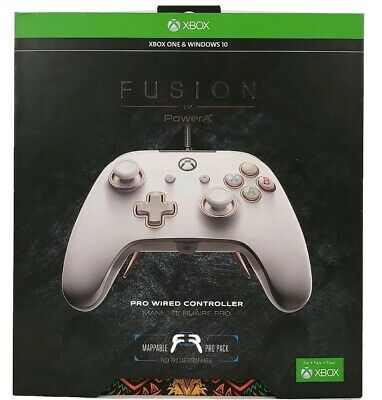 PowerA Fusion Pro Wired Controller for Xbox One & Windows 10, White