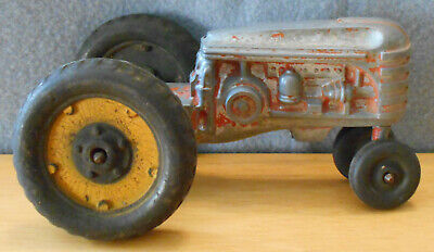 Antique Massey Ferguson die-cast toy tractor - fair condition - free shipping