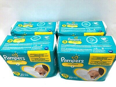 Pampers Swaddlers Disposable Diapers - Size N Newborn 4 Packs of 20 Total 80