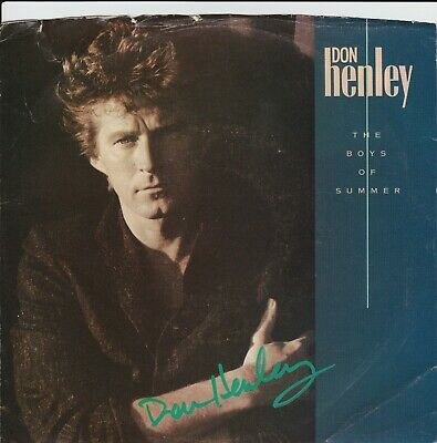 Don Henley Hand Signed 45 Boys of the Summer Picture Sleeve - Eagles Autographed