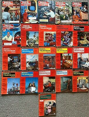 Vintage Radio And Television News 21 Issues 1952 To 1953 Tube Amps Radios