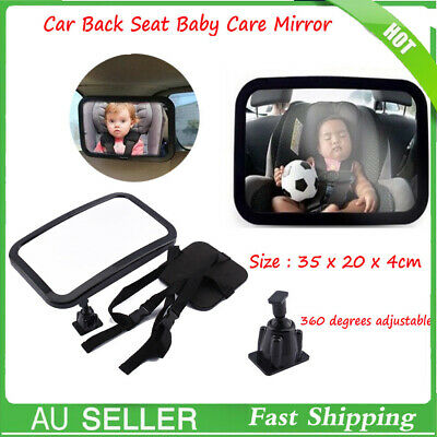 Car Baby Seat Inside Mirror View Back Safety Rear Facing Care h3