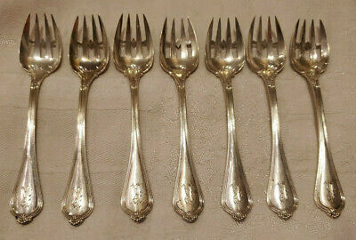 ANTIQUE TOWLE PAUL REVERE ICE CREAM PASTRY SERVING FORK LOT STERLING SILVER 133g