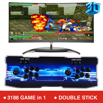 12 3188 in 1 Games 4 Player Retro Console LCD USB For PC Projector