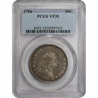 1794 Flowing Hair Half Dollar original and no distracting marks PCGS VF35
