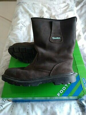 Click traders Rigger boots Steel toecap dark brown size 8 worn once