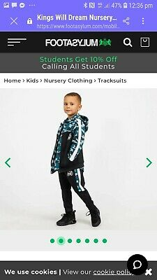 kids tracksuit age 5/6 brand new never beenworn kings will dream from footasylum