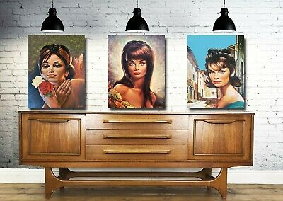 Collectable Set 3 A3 Giclee Vintage Eames Era  Art Prints  By J H Lynch - Tina
