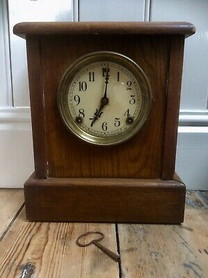 Antique SESSIONS CLOCK FORESTVILLE American Mantel Clock,Rare Double Chime Gong